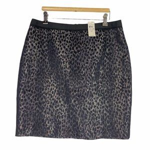 NWT Ann Taylor Animal Print Mini Pencil Skirt 10